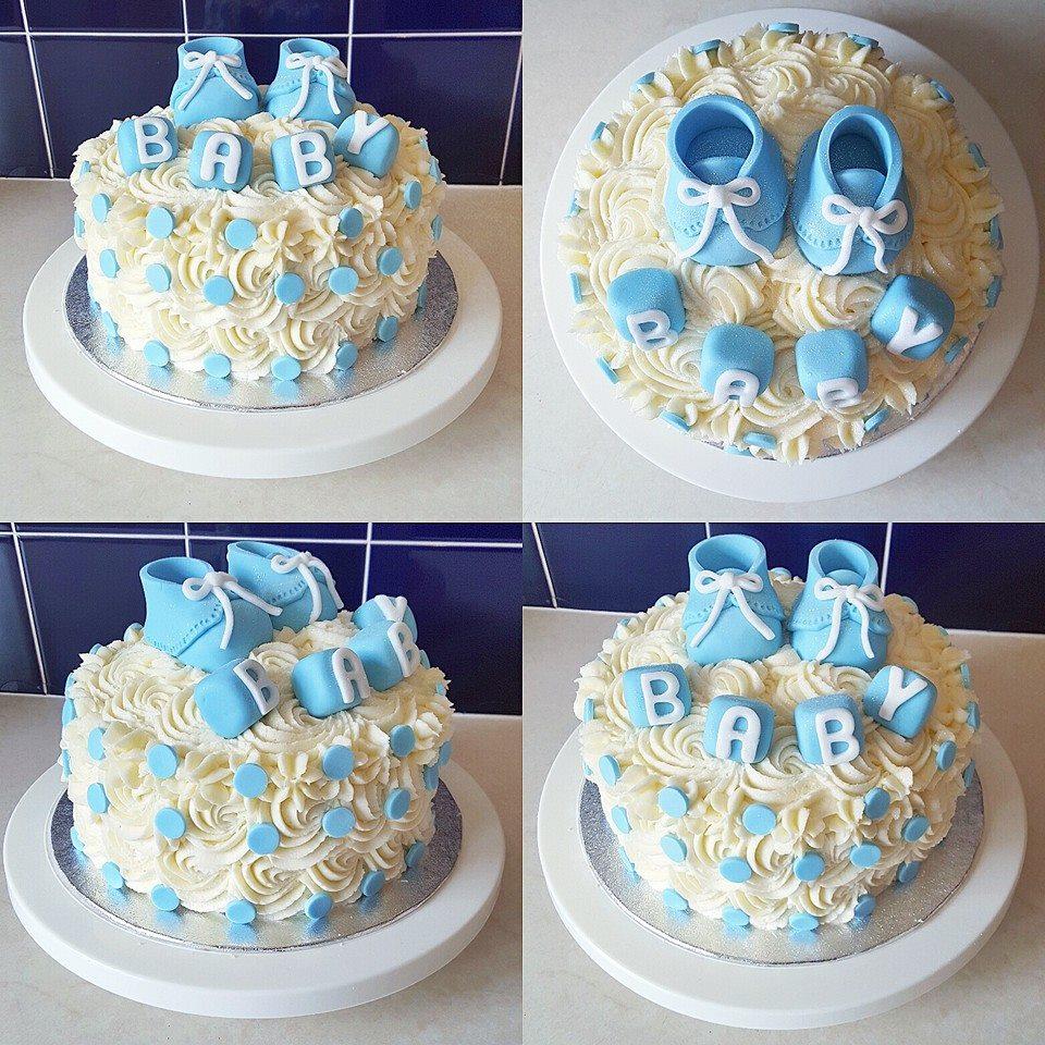 HBC   Cakes   Baby Shower (Boy) Hannah Bakes Cakes